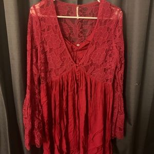 Free People With Love from India Dress (Red)